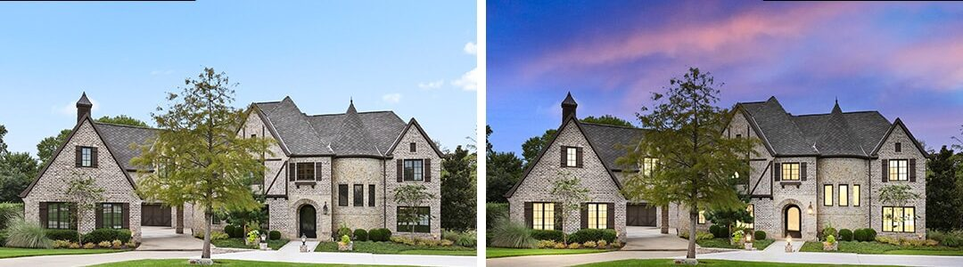 Dallas Real Estate Photography Digital Twilight Before After 1
