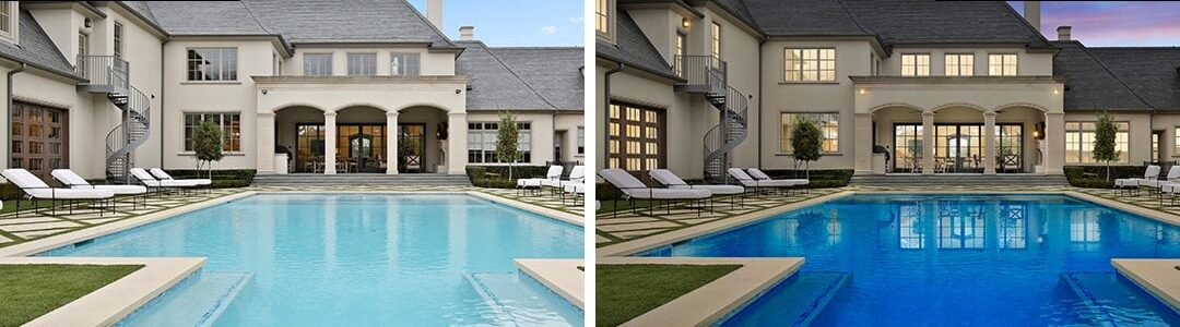 Dallas Real Estate Photography Digital Twilight Before After 3