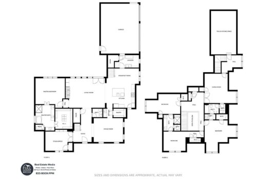Dallas Real Estate Photography Floor Plans Example 1